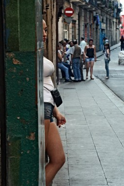 East European prostitutes in Barcelona, 2010.