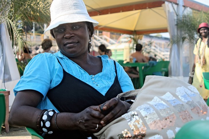 Gambian seller in Barcelona, 2010.