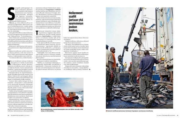 Suomen Kuvalehti 12/2012 Kalatkin merestä