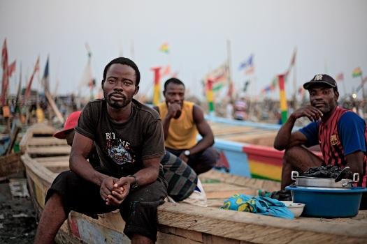 Ghanaian fishermen, 2012.